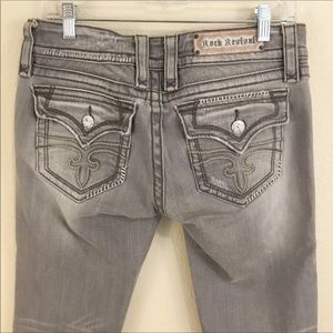 Rock Revival Celine Capri Gray Cropped Jean 30
